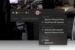 Record FaceTime Call on iPhone via Mac