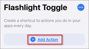 Tap Add Action