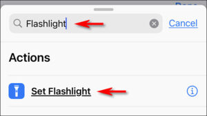 "Tap ""Set Flashlight"""
