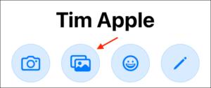 Tap Photos button