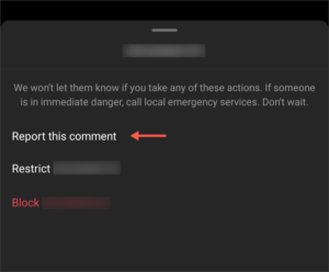 Select Report This Comment