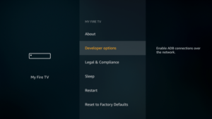 Select Developers Options