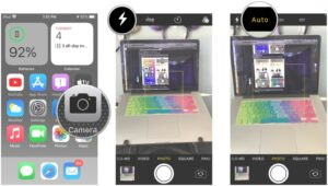 How to set the Flash for iPhone Camera