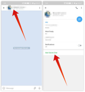 Open an existing chat and tap Start Secret Chat