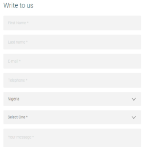 Ecobank Contact Form