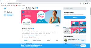 Ecobank Twitter