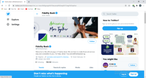 Fidelity Bank Twitter Page