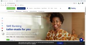 Fidelity bank Website