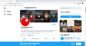 Sterling bank twitter