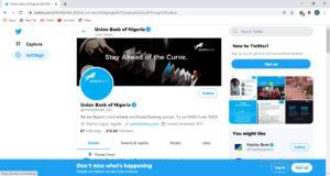 Union bank Twitter