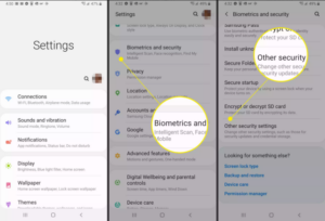 Navigate to Settings > Security > Other Security Settings