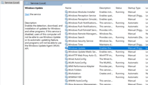 Double-Click on Windows Update Service