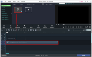 Drag the recording into Project Timeline