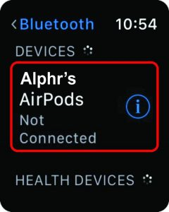 Select your AirPods