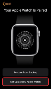 Select Set up as New Apple Watch