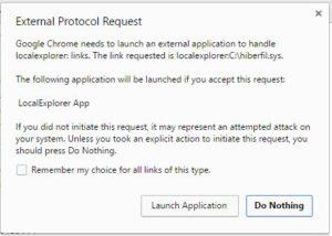 Click Launch Application