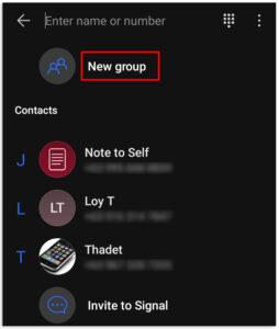 How to Create a Group in Signal
