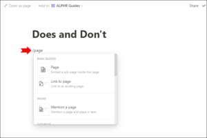 Type / Page; Source: alphr.com