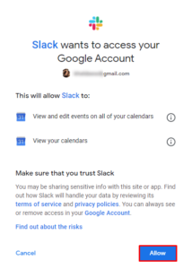 How to Integrate Google Calendar with Slack