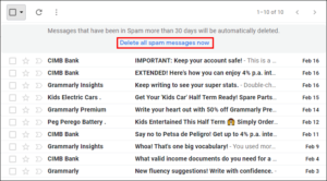 How to Delete Spam Folder in Gmail