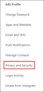 Click on Privacy and Security; Source: alphr.com