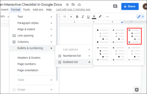 How to Create Checklist in Google Docs