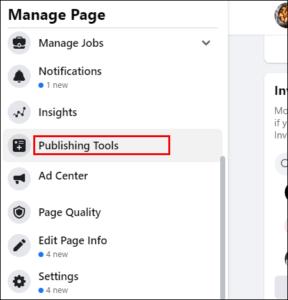 Select Publishing Tools; Source: alphr.com