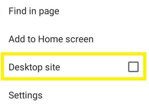 Select Desktop Site; Source: alphr.com