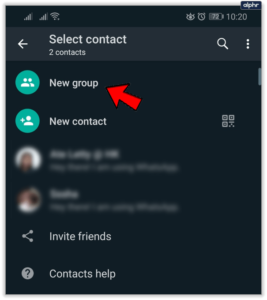Select New Group; Source: alphr.com