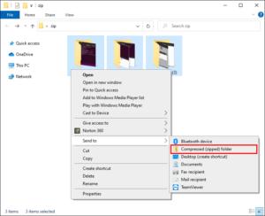 Select Compressed (Zipped) Folder; Source: alphr.com