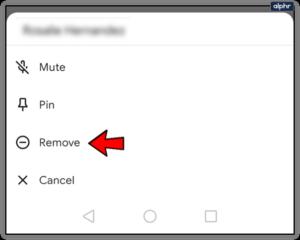 Select Remove; Source: alphr.com
