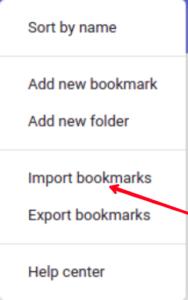Click Export Bookmarks