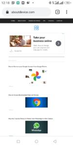 Site in desktop mode